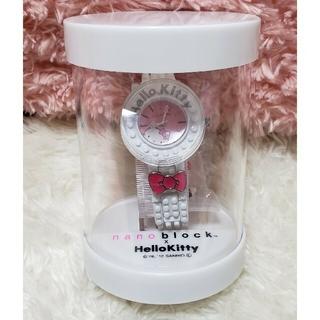 ハローキティ(ハローキティ)のHELLO KITTY × nanoblock コラボ リストウォッチ ホワイト(腕時計)