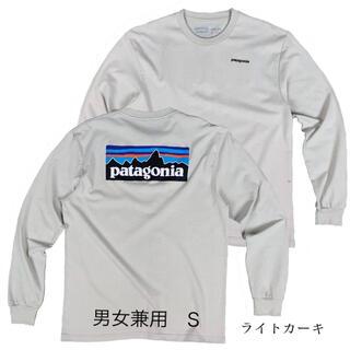 パタゴニア(patagonia)のパタゴニア 長袖 ロンT ライトカーキ Sサイズ アウトドア キャンプ(Tシャツ(長袖/七分))