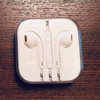 アップル(Apple)の未使用 アップル純正 イヤホン iPhone 5.6 用 ジャックタイプ(ヘッドフォン/イヤフォン)