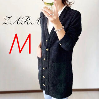ザラ(ZARA)のZARA 大草直子さん着用 テクスチャーワンピース パッチポケット M(ミニワンピース)