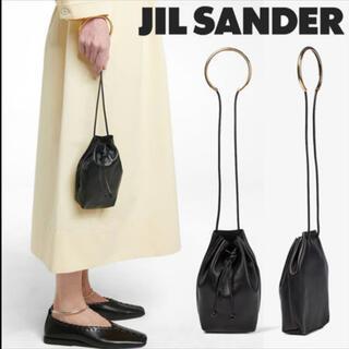ジルサンダー(Jil Sander)のジルサンダードローストリングレザーバック(ハンドバッグ)