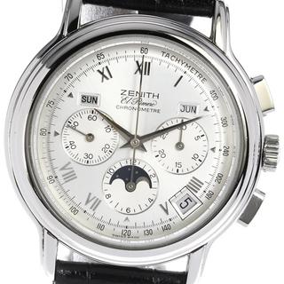 ゼニス(ZENITH)のゼニス クロノマスター 01.0240.410 メンズ 【中古】(腕時計(アナログ))