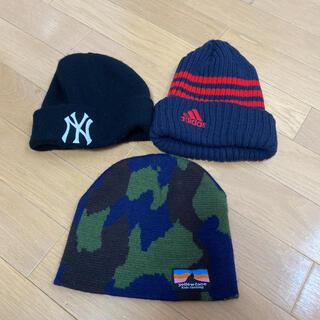 ニューエラー(NEW ERA)のキッズ アディダス  NEW ERA ニット帽(帽子)