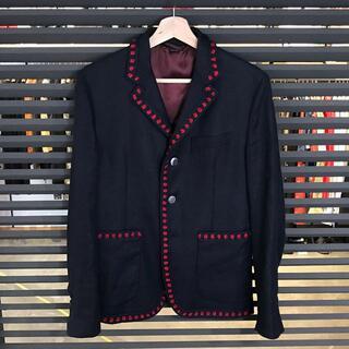 グッチ(Gucci)の美品 グッチ テーラードジャケット リネン メンズ ネイビー 44 Sサイズ(テーラードジャケット)