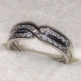 ダミアーニ(Damiani)のDAMIANI ダイヤモンドリング k18WGダミアーニ2連リング 美品送料無料(リング(指輪))