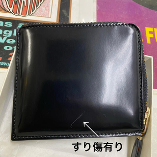 COMME des GARCONS - コムデギャルソン☆ウォレット☆BLACK×GOLD☆新古品☆若干キズあり☆