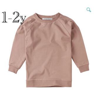 コドモビームス(こどもビームス)の新品未使用 MINGO long sleeve T fawn 1-2y(Tシャツ/カットソー)