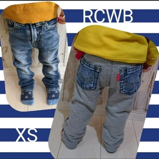ロデオクラウンズワイドボウル(RODEO CROWNS WIDE BOWL)のRCWB コンビデニム  スウェットデニム  90〜95  デニム風(パンツ/スパッツ)