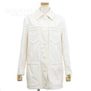 フェンディ(FENDI)のフェンディ ×ジョシュアヴィーダス コットンジャケット ホワイト FLF637(Gジャン/デニムジャケット)