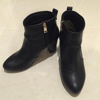 インデックス(INDEX)のindex ブーツ 黒 24cm(ブーツ)
