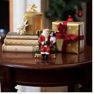 ビレロイアンドボッホ(ビレロイ&ボッホ)のビレロイ&ボッホ   クリスマストイズオルゴール椅子の上のサンタ(置物)