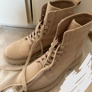 エイチアンドエム(H&M)のH&M レースアップ 編み上げ ブーツ(ブーツ)