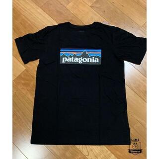 パタゴニア(patagonia)のpatagonia パタゴニア Tシャツ レディースM相当 ブラック P-6(Tシャツ(半袖/袖なし))