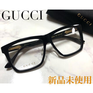 Gucci - ★新品★ ✴︎レア✴︎ 正規品 GUCCI メガネ スクエア 黒 PRADA