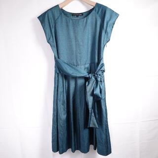 グリーンレーベルリラクシング(green label relaxing)のgreenlabel  ドレス レディース グリーン(ミニドレス)