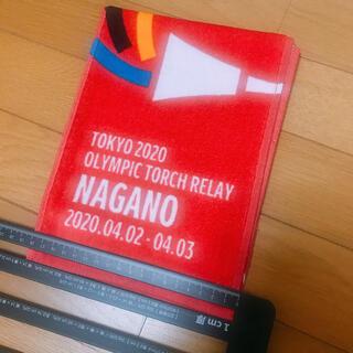 コカコーラ(コカ・コーラ)の東京オリンピック 聖火リレー タオル 長野(タオル/バス用品)