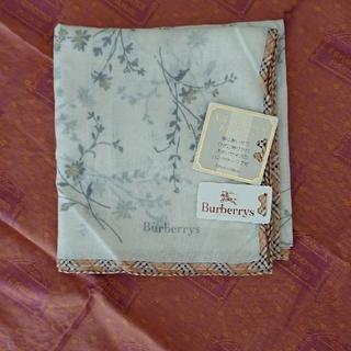 バーバリー(BURBERRY)の新品 バーバリー スカーフ シルクコットン(ハンカチ)