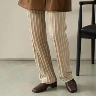 カスタネ(Kastane)のamiur:stripe rib knit pants(その他)