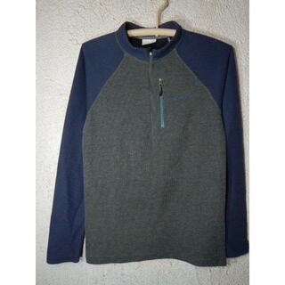 コロンビア(Columbia)のo3826 Columbia 長袖 ハーフ ジップ サーマル風 tシャツ ロンt(Tシャツ/カットソー(七分/長袖))