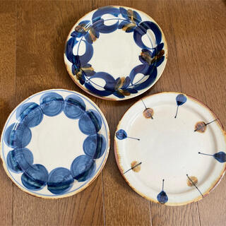 HASAMI - 波佐見焼 プレート 取り皿 藍染窯 藍ブルー やちむん風