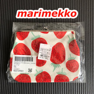 マリメッコ(marimekko)のMANSIKKA(マンシッカ)🍓いちご柄 がま口ポーチ・マリメッコ・通帳ケース(ポーチ)