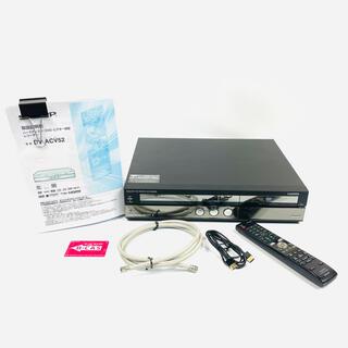 シャープ(SHARP)の【美品 完動品】SHARP シャープ ハイビジョンレコーダー DV-ACV52(DVDレコーダー)