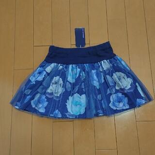 アナスイミニ(ANNA SUI mini)の【120】アナスイミニ 花柄×チュール スカパン(スカート)