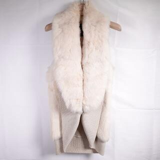 ダブルスタンダードクロージング(DOUBLE STANDARD CLOTHING)のDOUBLE STANDARD ファーベスト レディース オフホワイト(毛皮/ファーコート)