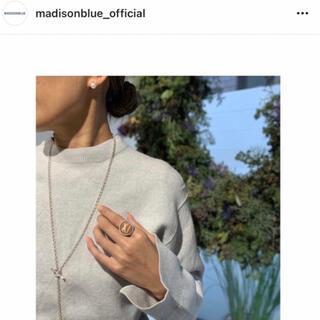 マディソンブルー(MADISONBLUE)のMADISON BLUE マディソンブルー ダブルフェイスニット 未使用品(ニット/セーター)