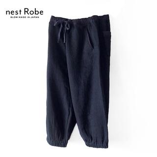 ネストローブ(nest Robe)のbisque✨ネストローブ ウールリネン ヘリンボーン ワイドイージーパンツ(カジュアルパンツ)