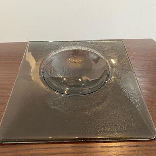 スガハラ(Sghr)のglass studio スクエア斜めボウル皿 クリアブラックプレート 5枚(食器)