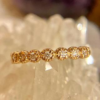 ポンテヴェキオ(PonteVecchio)のポンテヴェキオ k18 ピンクゴールド ダイヤ ハーフエタニティ リング 指輪(リング(指輪))
