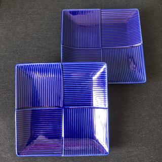 タチキチ(たち吉)のサントリー 金麦 あいあい皿 群青角皿×2枚(食器)