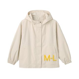 ムジルシリョウヒン(MUJI (無印良品))の撥水フードジャケット  婦人M~L ペールブラウン(ブルゾン)