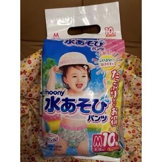 Unicharm - ムーニー 水あそびパンツ 女の子用 M 6kg〜12kg 10枚 ユニ・チャーム