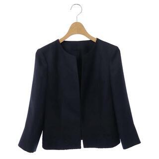 アナイ(ANAYI)のアナイ ANAYI 17SS ノーカラージャケット 七分袖 裾刺繍 36 紺(その他)
