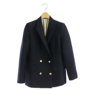 アナイ(ANAYI)のアナイ テーラードジャケット ダブル 総裏地 シルク混 金ボタン 34 紺(その他)