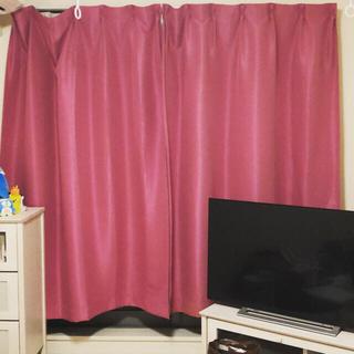 フランフラン(Francfranc)のフランフラン カーテン 2枚(1窓分) ピンク(カーテン)