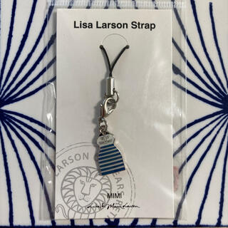 リサラーソン(Lisa Larson)のリサラーソン    ストラップ ミンミ 青(キャラクターグッズ)