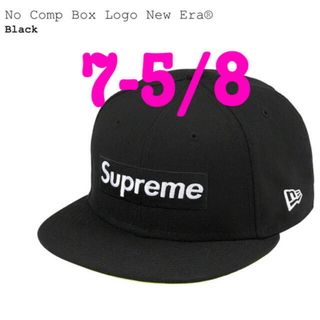 シュプリーム(Supreme)のSupreme No Comp Box Logo New Era 7 5/8黒(キャップ)