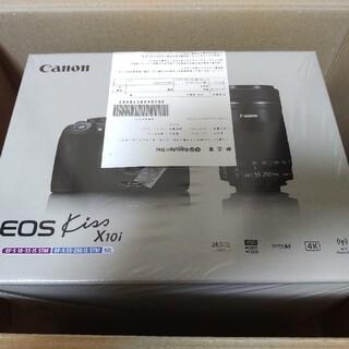 キヤノン(Canon)の【新品未使用】キヤノンEOS kiss x10i ダブルズームキット(デジタル一眼)