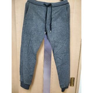 ビームス(BEAMS)のBEAMS ウールジョガーパンツ 裾リブ S チャコールグレー 美品(その他)