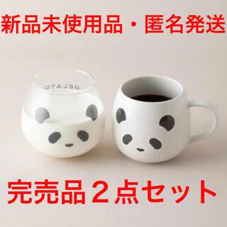 ジェラートピケ(gelato pique)の新品未使用品 gelato pique cafe パンダ マググラス&マグカップ(グラス/カップ)