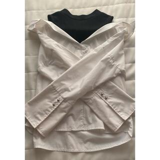 セシルマクビー(CECIL McBEE)のセシルマクビー 肩出しシャツ ホワイト(シャツ/ブラウス(長袖/七分))