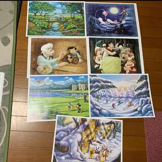 ディズニー(Disney)のディズニーキャラクターアートコレクション 絵 ポスター(絵画/タペストリー)