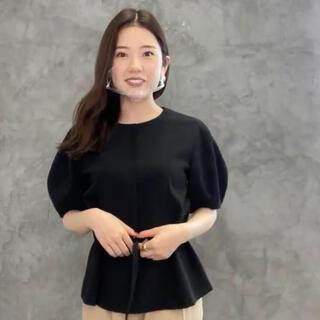 ノーブル(Noble)のanuans ステッチデザインブラウス (BLACK)(Tシャツ/カットソー)