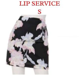 リップサービス(LIP SERVICE)のリップサービス 花柄タイトスカート S(ミニスカート)