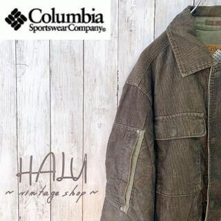 コロンビア(Columbia)のColumbia コロンビア コーデュロイ厚手ジャケット モスグリーン 古着(その他)