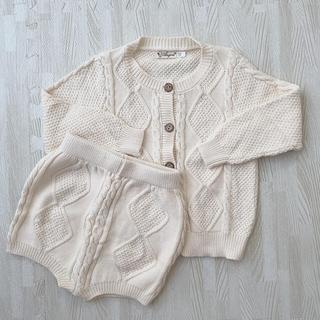 ザラ(ZARA)の韓国子供服  ニット セットアップ  90(ニット)