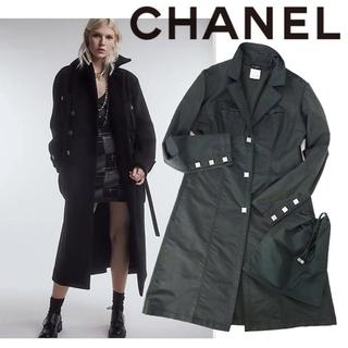 シャネル(CHANEL)の美品 レア ヴィンテージ シャネル ライトコート ジャケット スポーツライン(ロングコート)